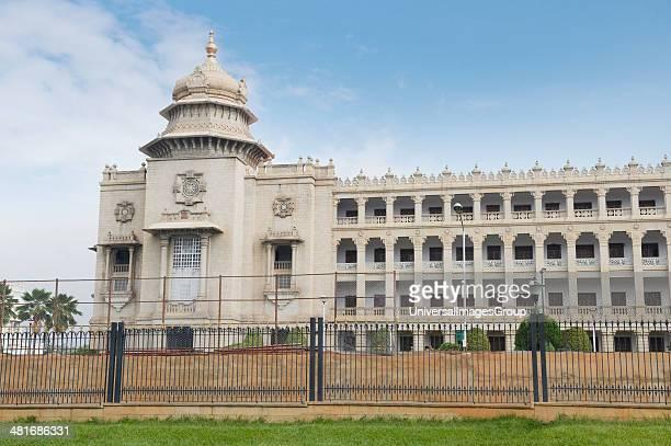 Railing in front of a government building Vidhana Soudha Bangalore Karnataka India