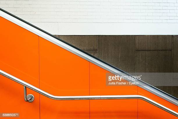 Railing Of Staircase And Escalator
