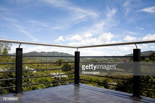 Railing on a terrace : Foto de stock