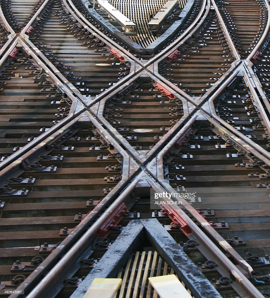 Railroad track, New York City, New York State, USA