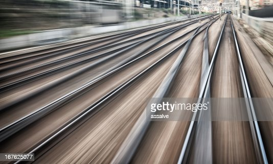 railroad tracks and junctions : Stock Photo
