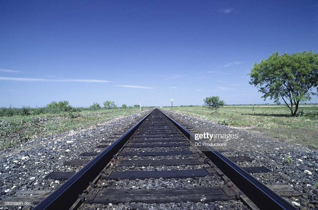 Railroad tracks, Texas, USA, (Close-up)