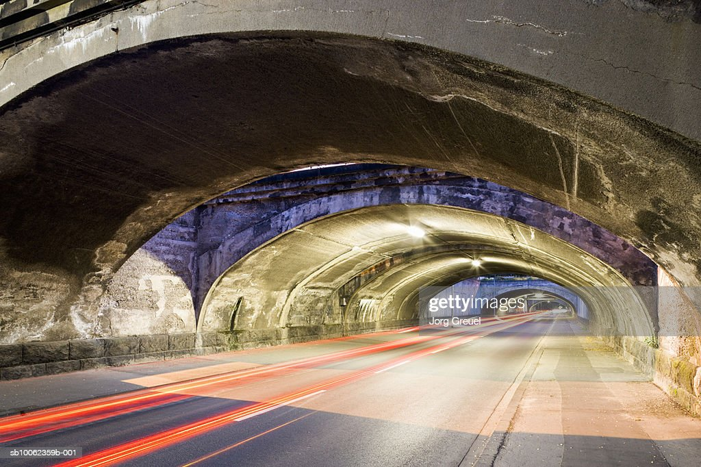 Railway bridges over road (Long Exposure) : Stock Photo