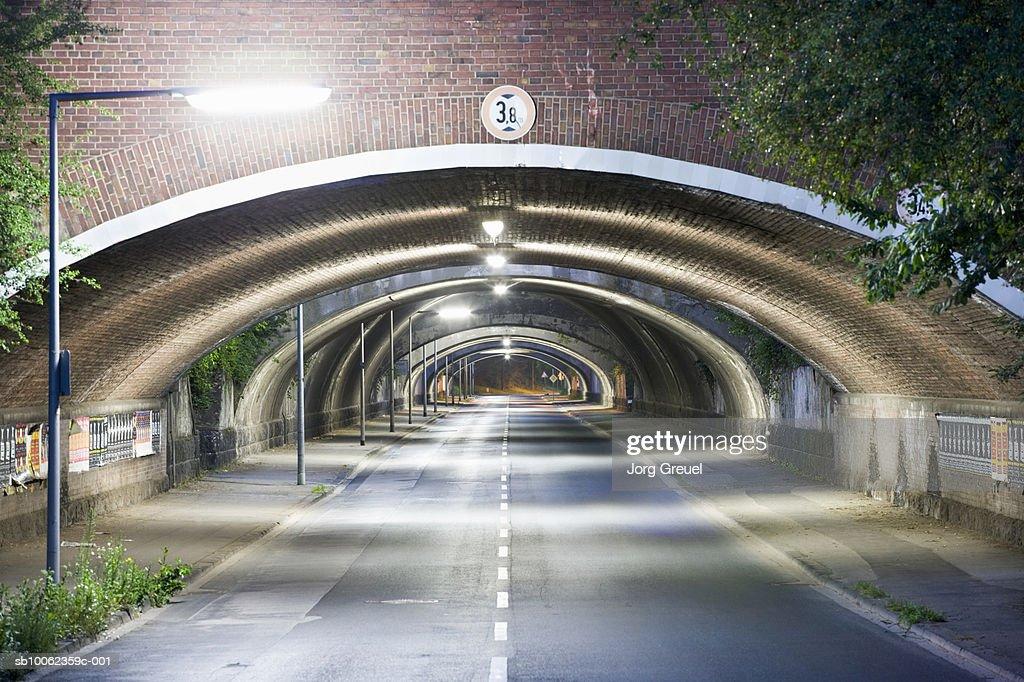 Railway bridges over road : Stock Photo