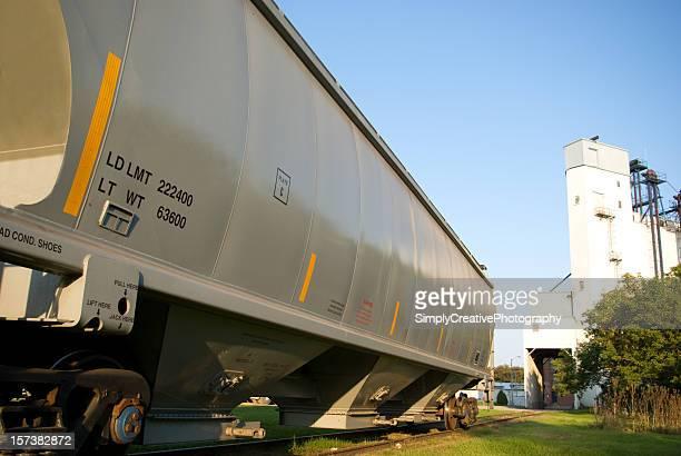 Railway Car Siding by Elevator