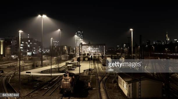Railway container cargo terminal - Frankfurt Eastend