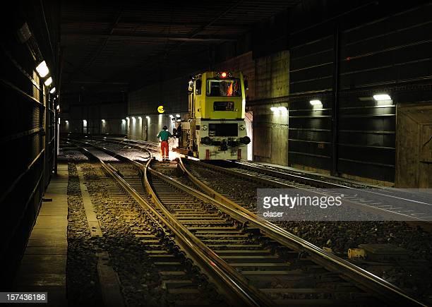 Railway night repair works