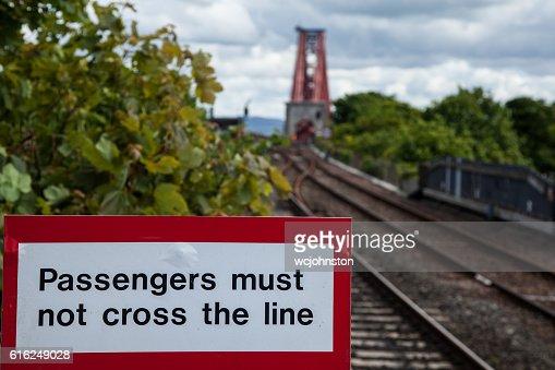 Señal ferroviaria : Foto de stock