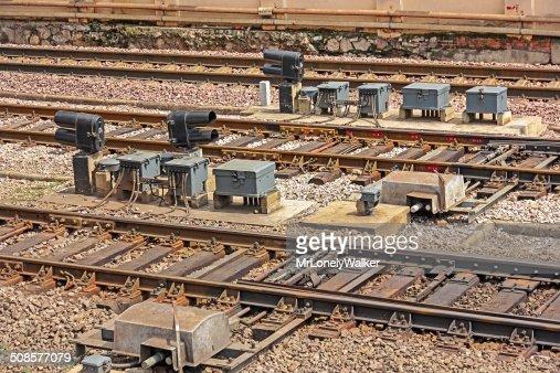 Railway Signals : Stock Photo
