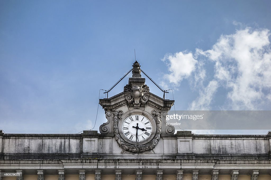 Railway Station Clock : Stock Photo
