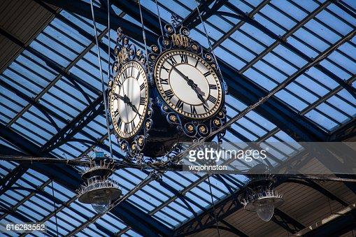 Railway Station Clock : Stock Photo