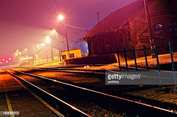 Railway station in the night