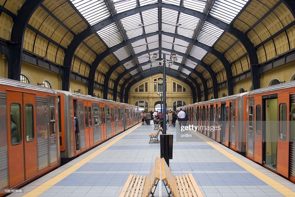 Railway station symmetry : Stock Photo