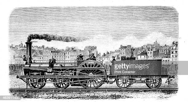 Railway steam locomotive designed in 1849 by English engineer Thomas Russell Crampton Crampton's design featured a lowpitched boiler large driving...