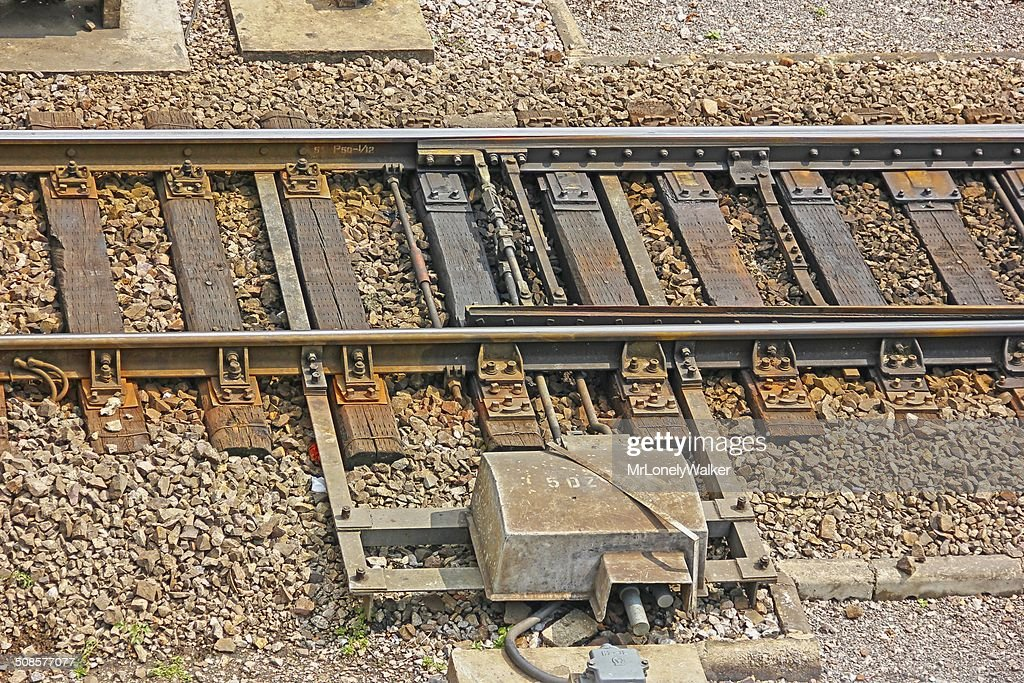 Railway Switch : Stock Photo