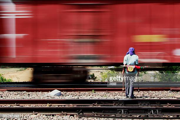 Railway track maintenance labor