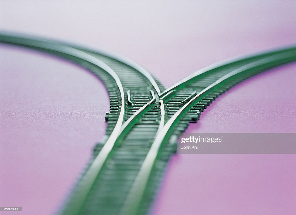 Railway Track Separating : Stock Photo