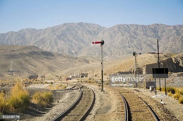 Railway tracks and signals