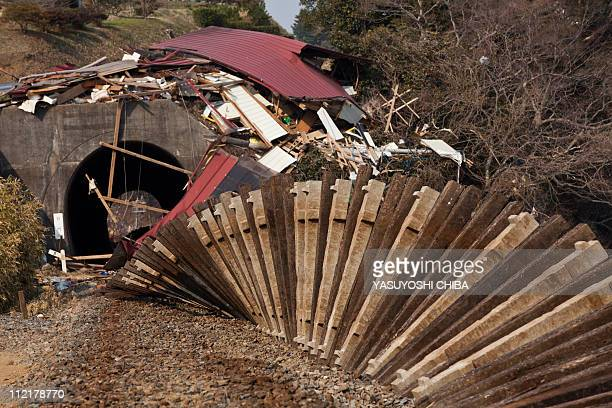 Railway tracks lie twisted after the recent tsunami in Kesennuma city Miyagi prefecture on April 14 2011 Japan's seismologists were so entrenched in...