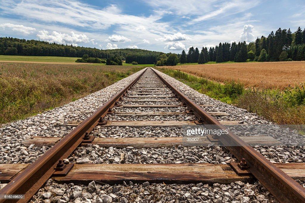 Vías de ferrocarril : Foto de stock