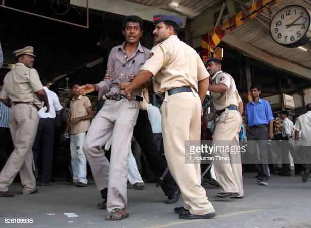 Railways Protests and Demonstration Local Trains Rampage at Borivli Station Rail Roko Crowd Mumbai Police lathicharge the protestors at Borivli...