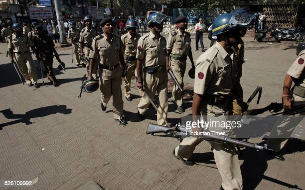 Railways Protests and Demonstration Local Trains Rampage at Borivli Station Rail Roko Crowd Mumbai Police at Borivli Station Commuters at Borivli...