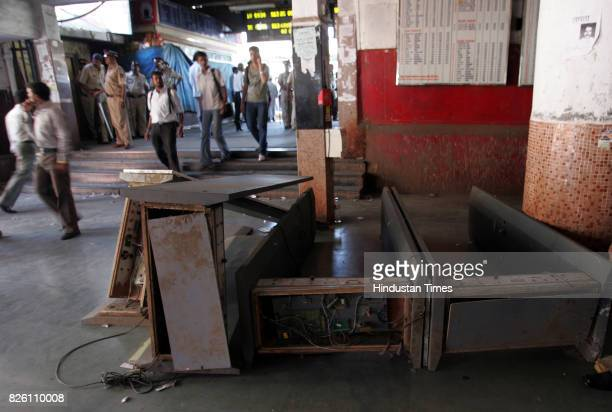 Railways Protests and Demonstration Local Trains Rampage at Borivli Station Rail Roko Crowd Commuters vandalised Borivli Station Commuters at Borivli...