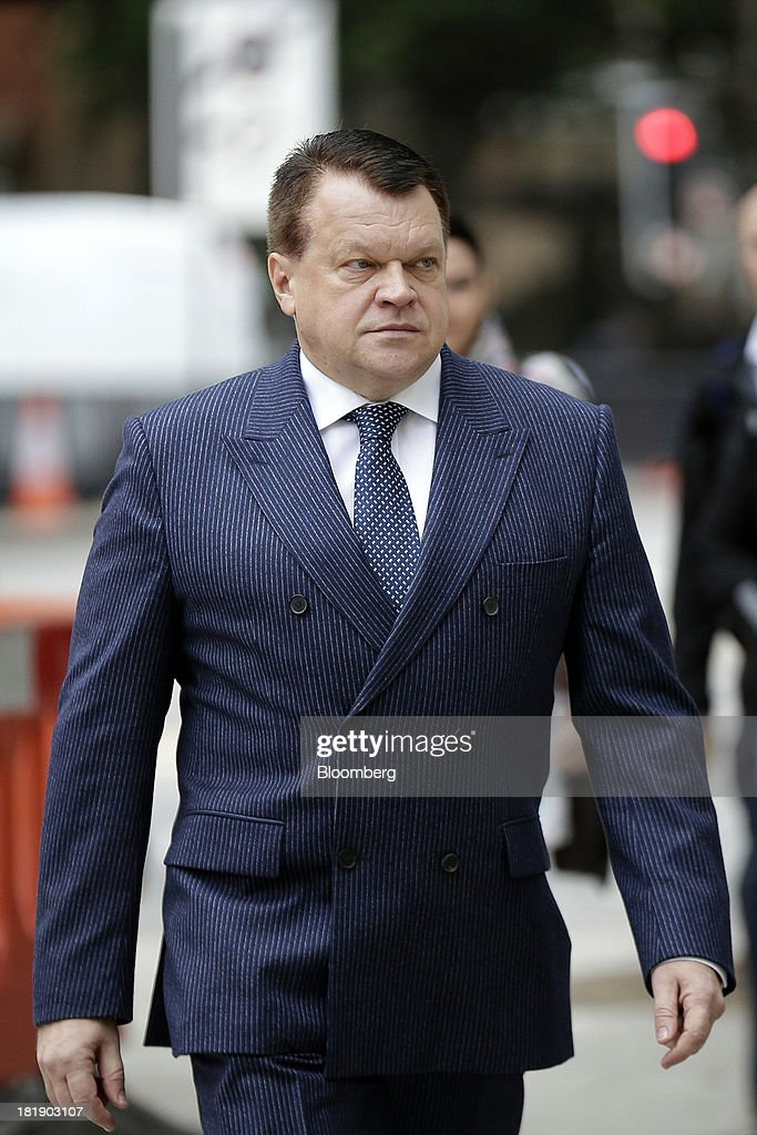 Raimondas Baranauskas, former co-owner of Bankas Snoras AB, arrives at Westminster Magistrates Court in London, U.K., on Thursday, Sept. 26, 2013. Baranauskas, a Lithuanian, and his business partner Vladimir Antonov were detained in London in 2011 after Lithuania issued a European arrest warrant on claims the men siphoned at least 1.7 billion litas ($668 million) from the country's third-biggest bank by deposits, causing its collapse. Photographer: Matthew Lloyd/Bloomberg via Getty Images