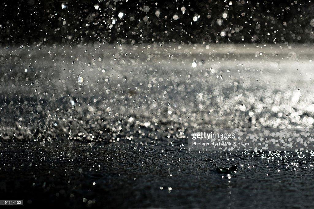 Rain at night