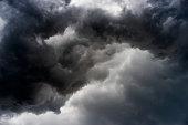 rain cloud Feel cruel dangerous, storm cloud before a thunder storm