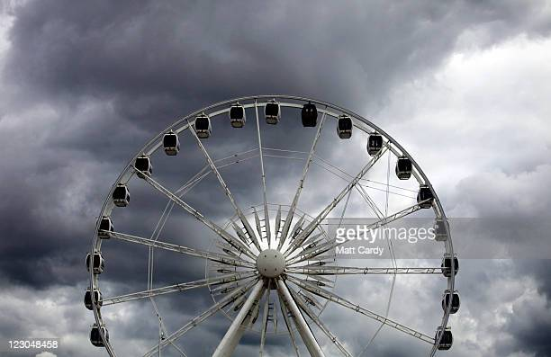 Rain clouds gather above the big wheel on the seafront on August 30 2011 in WestonSuperMare England According to weather experts the UK's summer has...