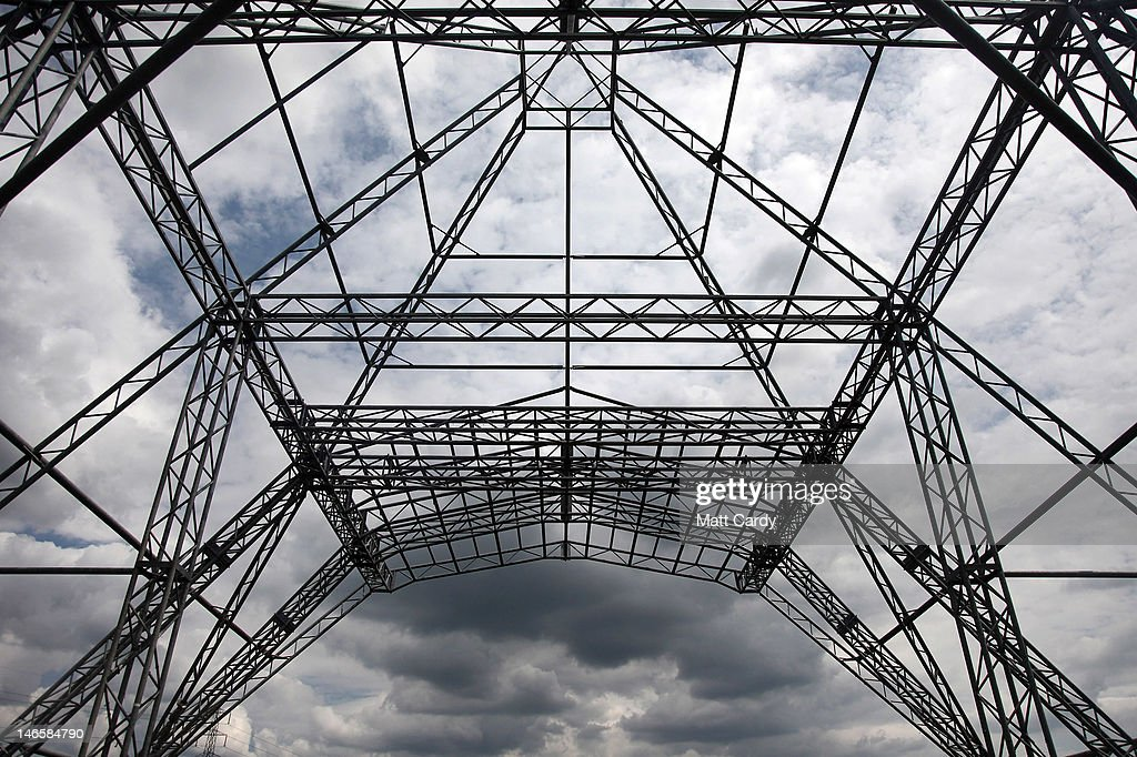 Rain clouds gather over the skeleton of the main Pyramid Stage at the Glastonbury Festival site at Worthy Farm, Pilton on June 20, 2012 near Glastonbury, England. Today would have been the day that the gates would have opened for what has become Europe's biggest music festival, but because of the London 2012 Olympics it was decided by the organisers to take this year off. However, this week it was announced that the festival - which started in 1970 when several hundred festival-goers paid 1 GBP to watch Marc Bolan and has now attracts more than 175,000 people over five days - will feature in a mosh-pit style tribute in the opening ceremony of the London 2012 Olympic Games. The Festival will return in June 2013.
