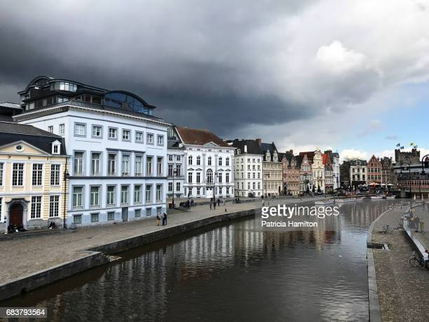 Rain clouds over Ghent