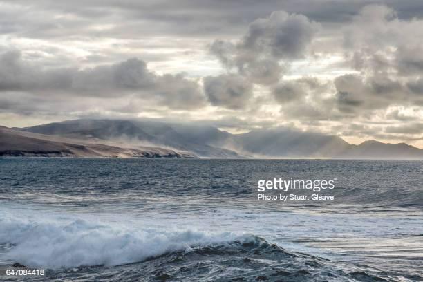 Rain clouds seen by the coast