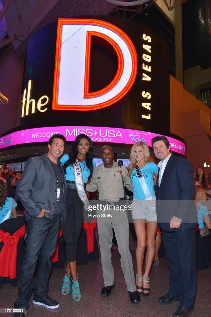 Rain Cosmetics Owner and CoFounder Ron Montoya Miss USA 2012 Nana Meriwether Las Vegas Metropolitan Police Sergeant and television personality Tom...