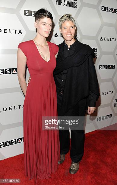 Rain Dove and Farrah Krenek attend the 2015 SESAC Pop Music Awards at New York Public Library on May 4 2015 in New York City