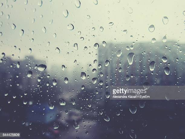 Rain Drops On Window