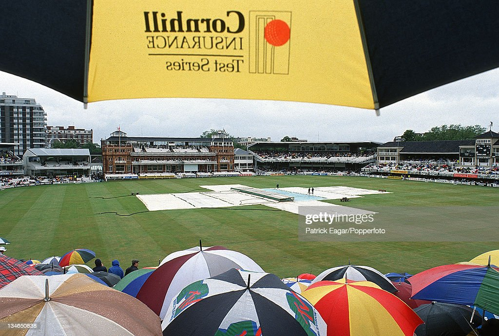 Rain England v West Indies 2nd Test Lord's June 1991