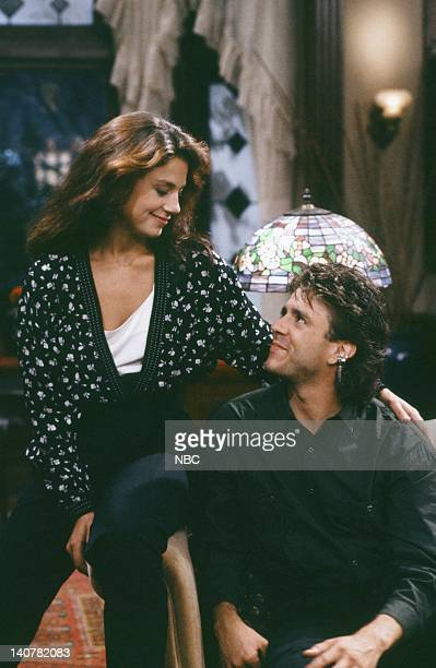 TIES 'Rain Forests Keep Fallin' on My Head' Episode 21 Pictured Justine Bateman as Mallory Keaton Scott Valentine as Nick Moore Photo by Kim...