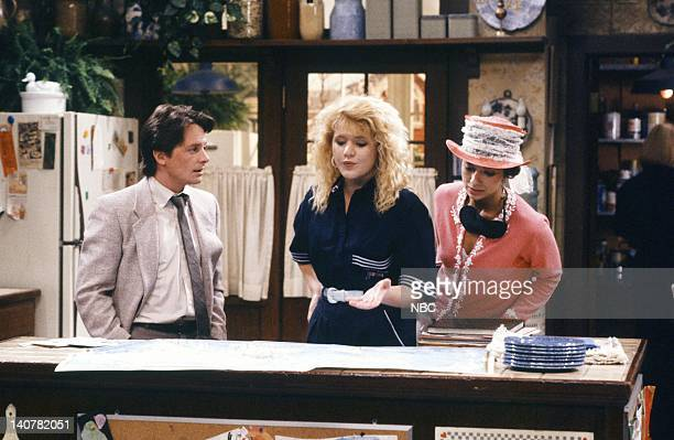 TIES 'Rain Forests Keep Fallin' on My Head' Episode 21 Pictured Michael J Fox as Alex P Keaton Tina Yothers as Jennifer Keaton Justine Bateman as...