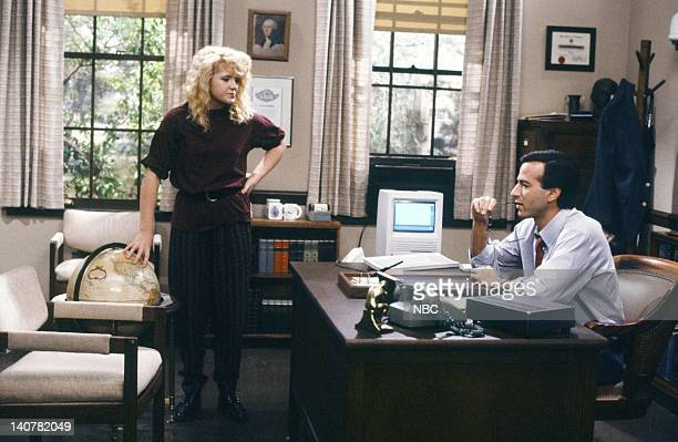TIES 'Rain Forests Keep Fallin' on My Head' Episode 21 Pictured Tina Yothers as Jennifer Keaton Barry Heins as Mr Hilgenberg Photo by Kim...