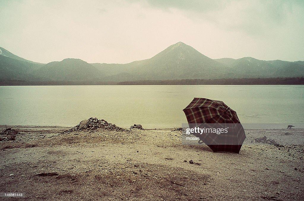 Rain in mountain : Stock Photo