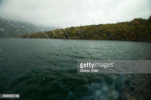 Rain on the window : Stockfoto