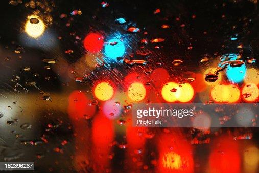 Rain on Window - Large