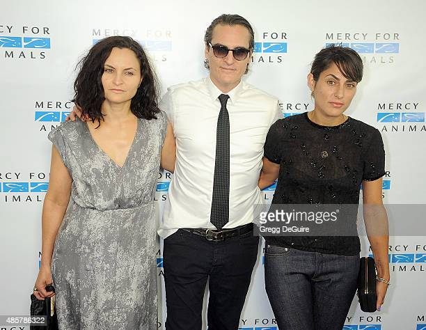 Rain Phoenix Joaquin Phoenix and Summer Phoenix arrive at The Hidden Heroes Gala presented by Mercy For Animals at Unici Casa on August 29 2015 in...