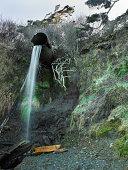 Rain runoff waterfall