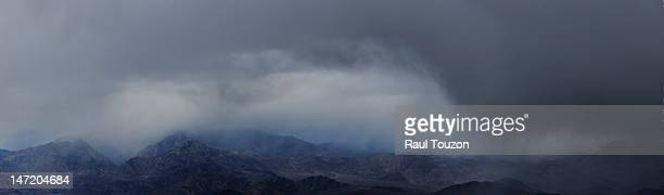 A rain storm in Death Valley.