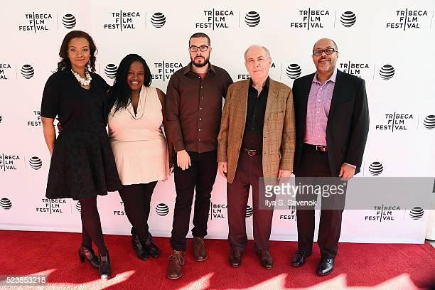 Raina Kelly Kelley Carter Ezra Edelman and Robert Lipsyte attend Tribeca Talks OJ Made In America TheUndefeatedcom Panel Discussion at SVA Theatre 2...