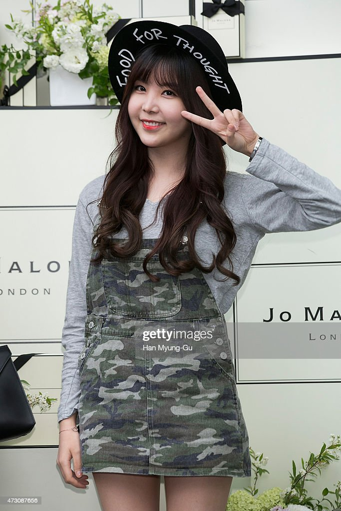 Raina of South Korean girl group After School attends the photocall for Jo Malone London Hannam boutique opening on May 12, 2015 in Seoul, South Korea.