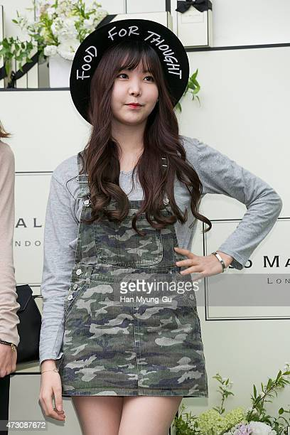 Raina of South Korean girl group After School attends the photocall for Jo Malone London Hannam boutique opening on May 12 2015 in Seoul South Korea